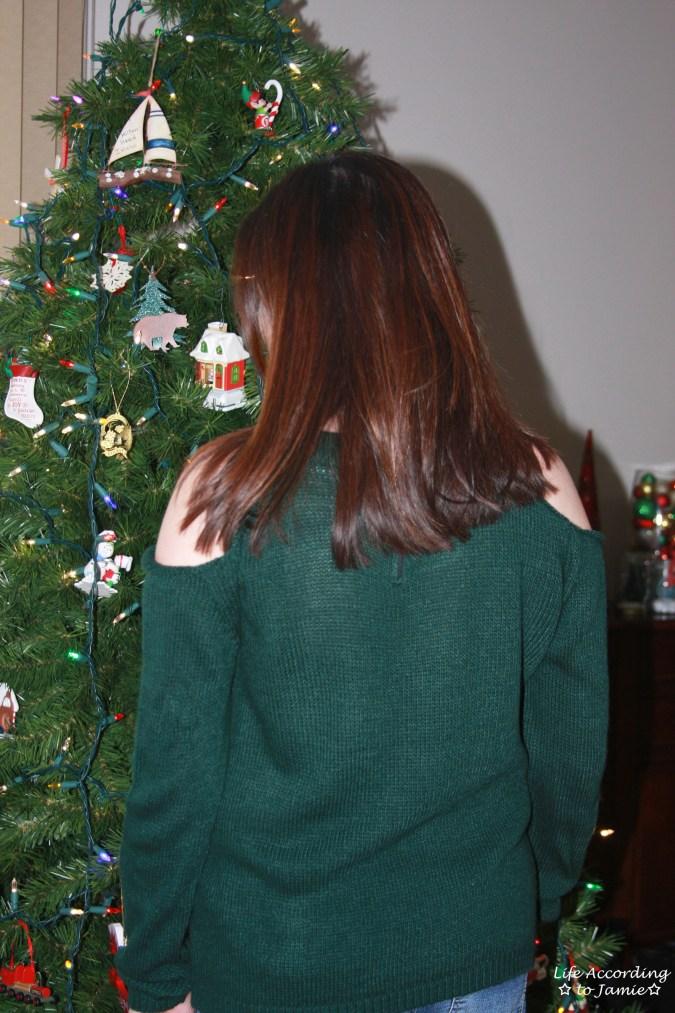 Pine Green Cold Shoulder 3