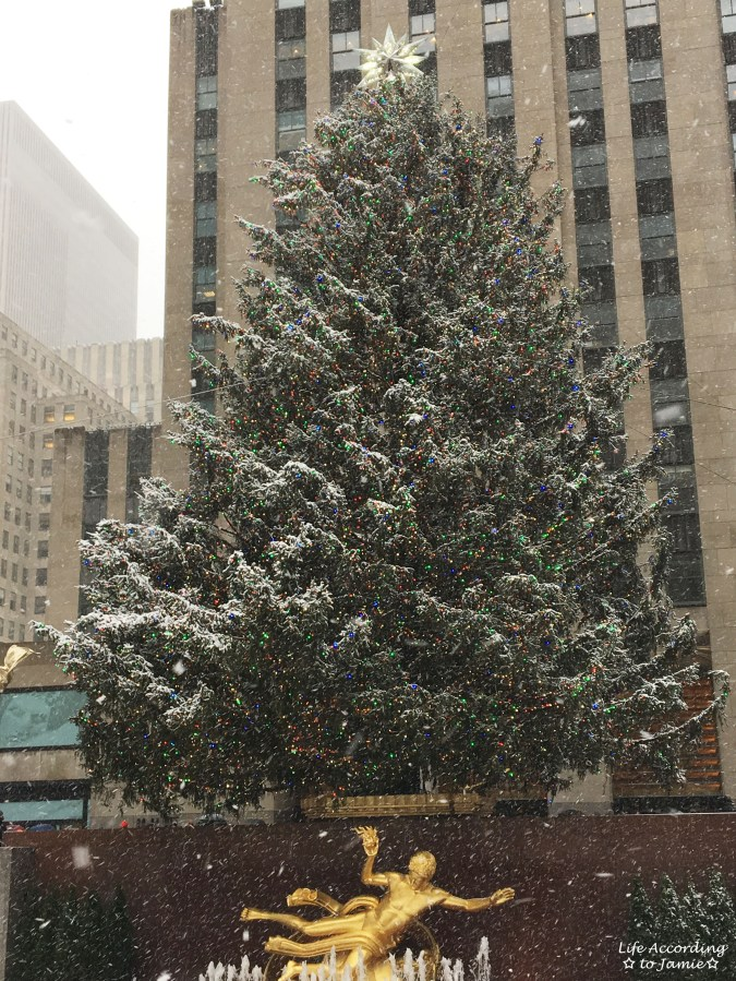 Rockefeller Center Tree - Snow