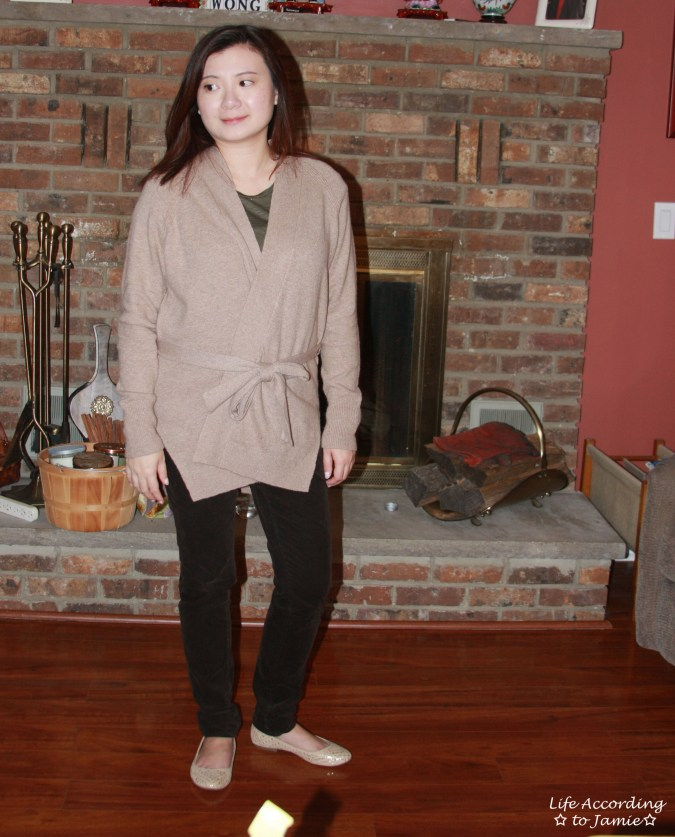 Taupe Sand Belted Cardigan 5