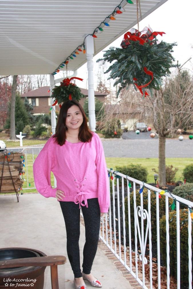 Balloon Sleeve Corset Sweater 1