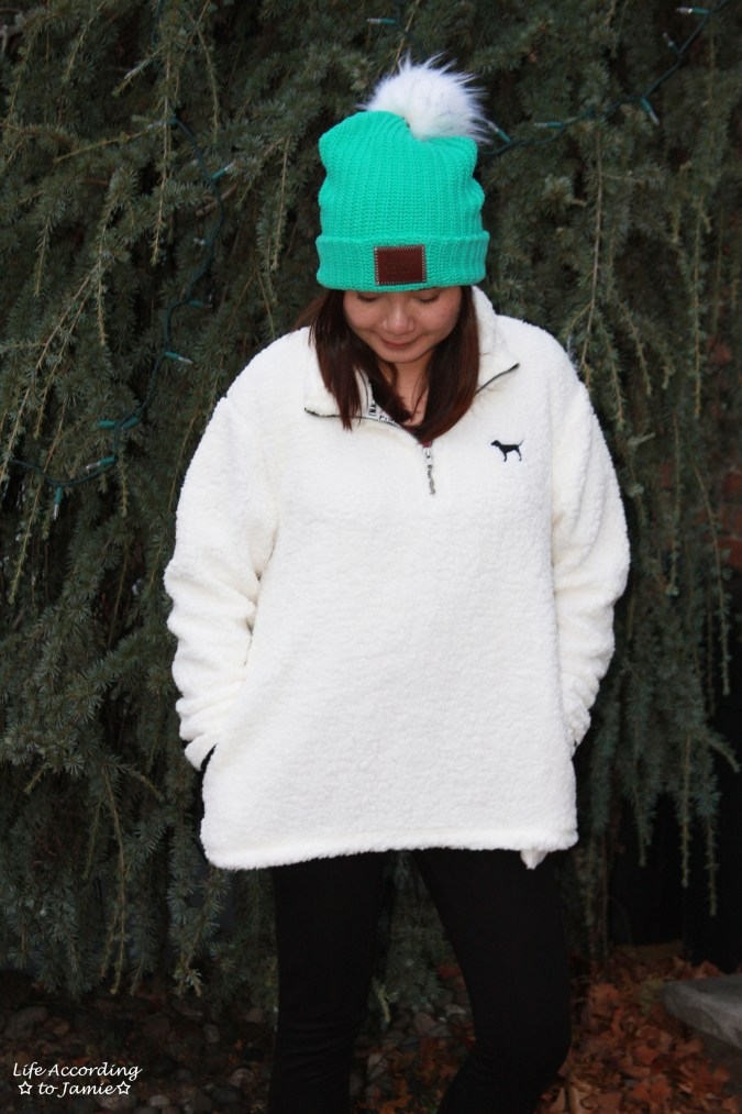 Love Your Melon Beanie + Sherpa Pullover 7