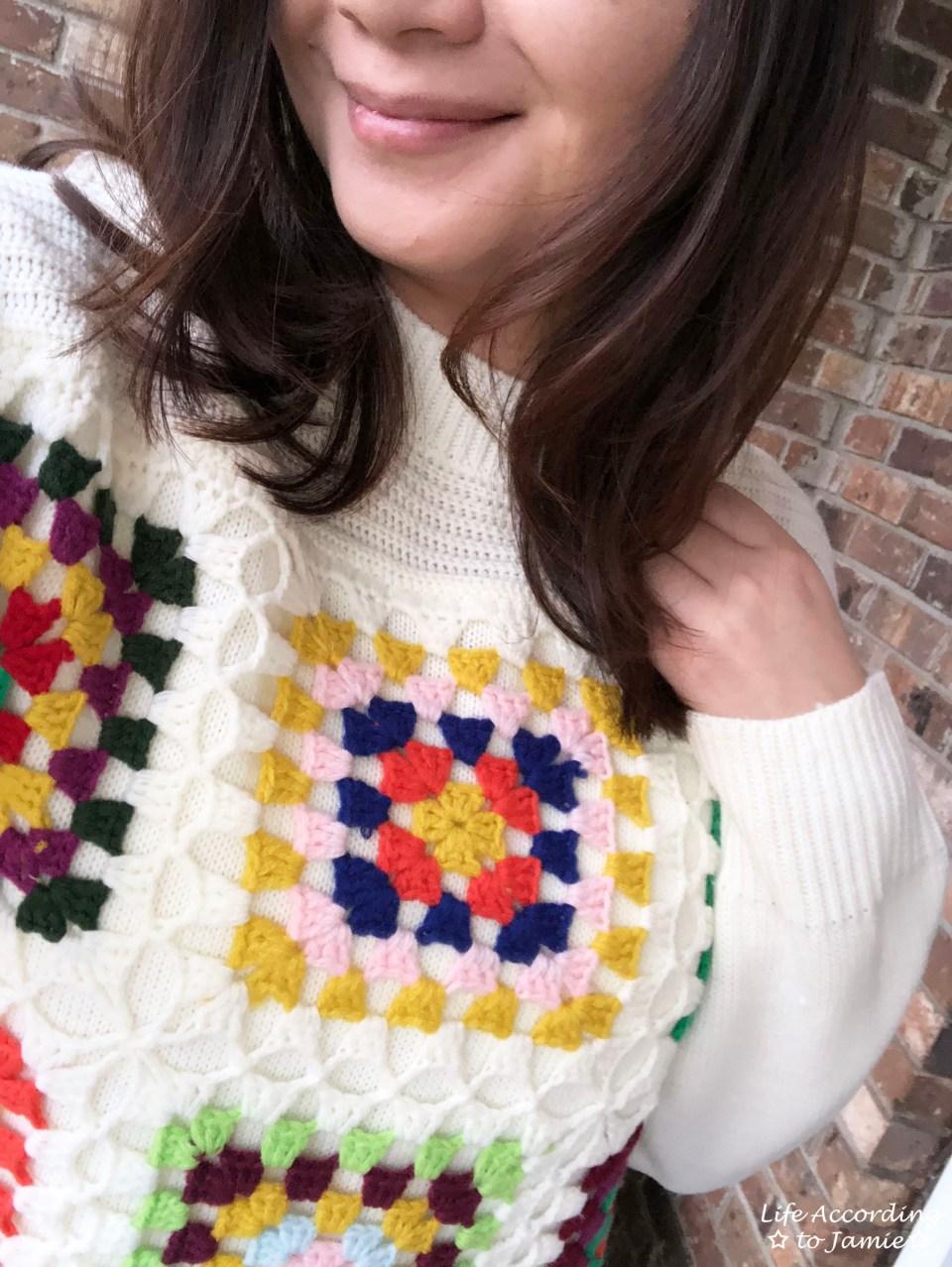 Boho Charm Crochet Knit Sweater 4
