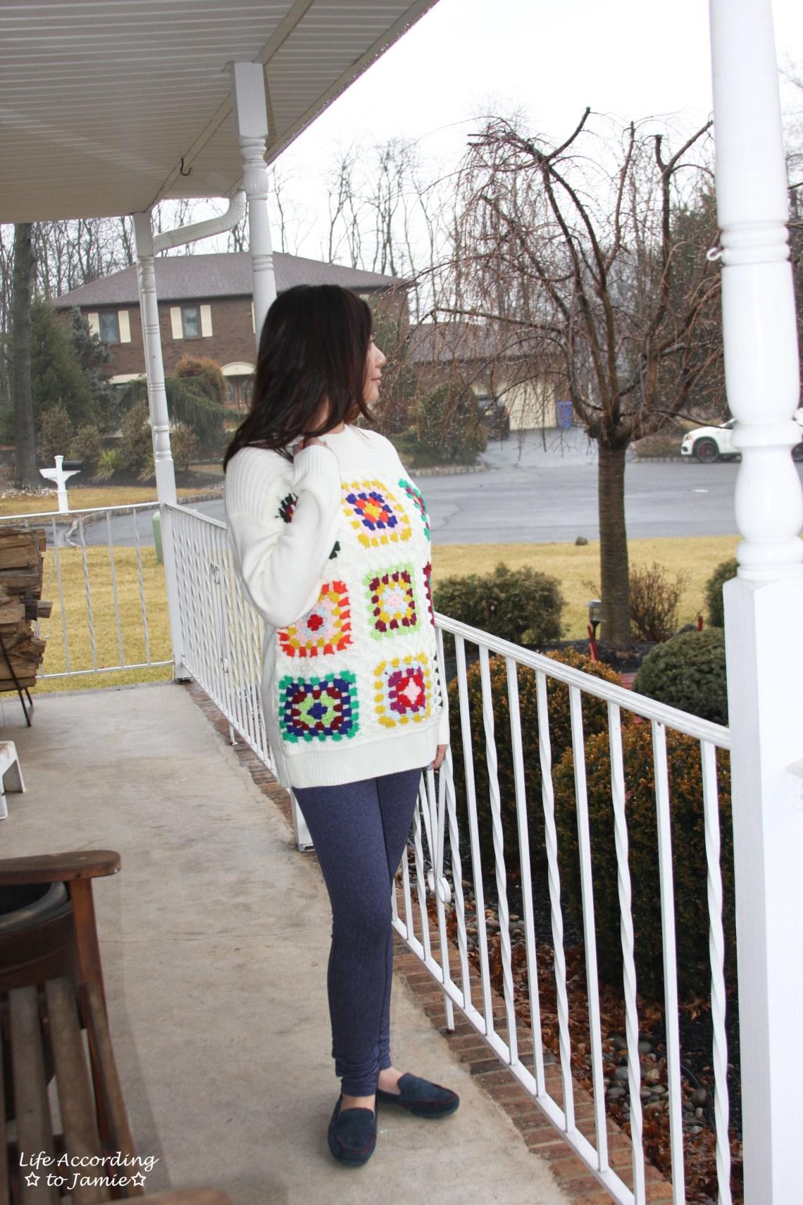 Boho Charm Crochet Knit Sweater