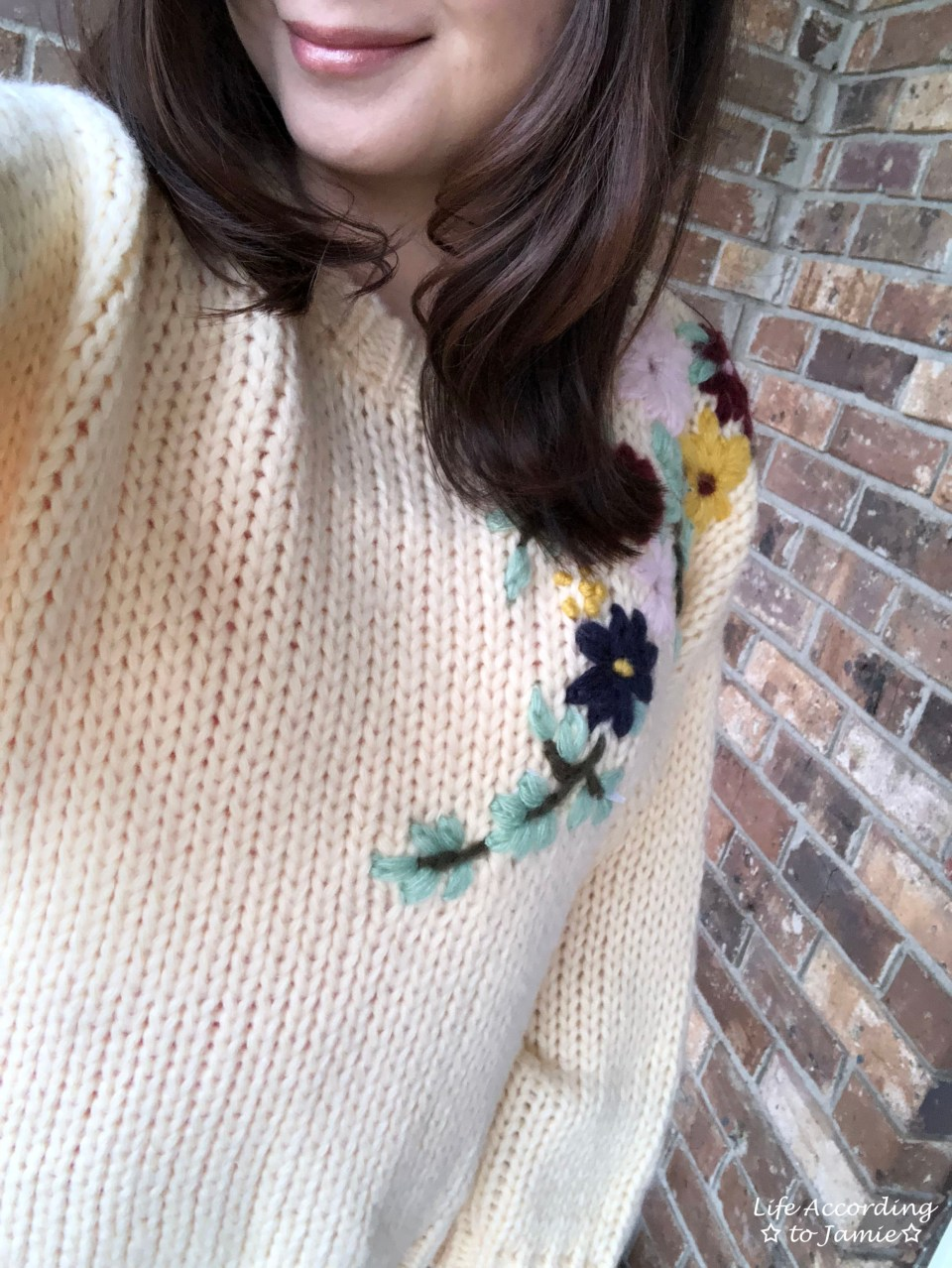 Flowering Branch Chunky Knit 4