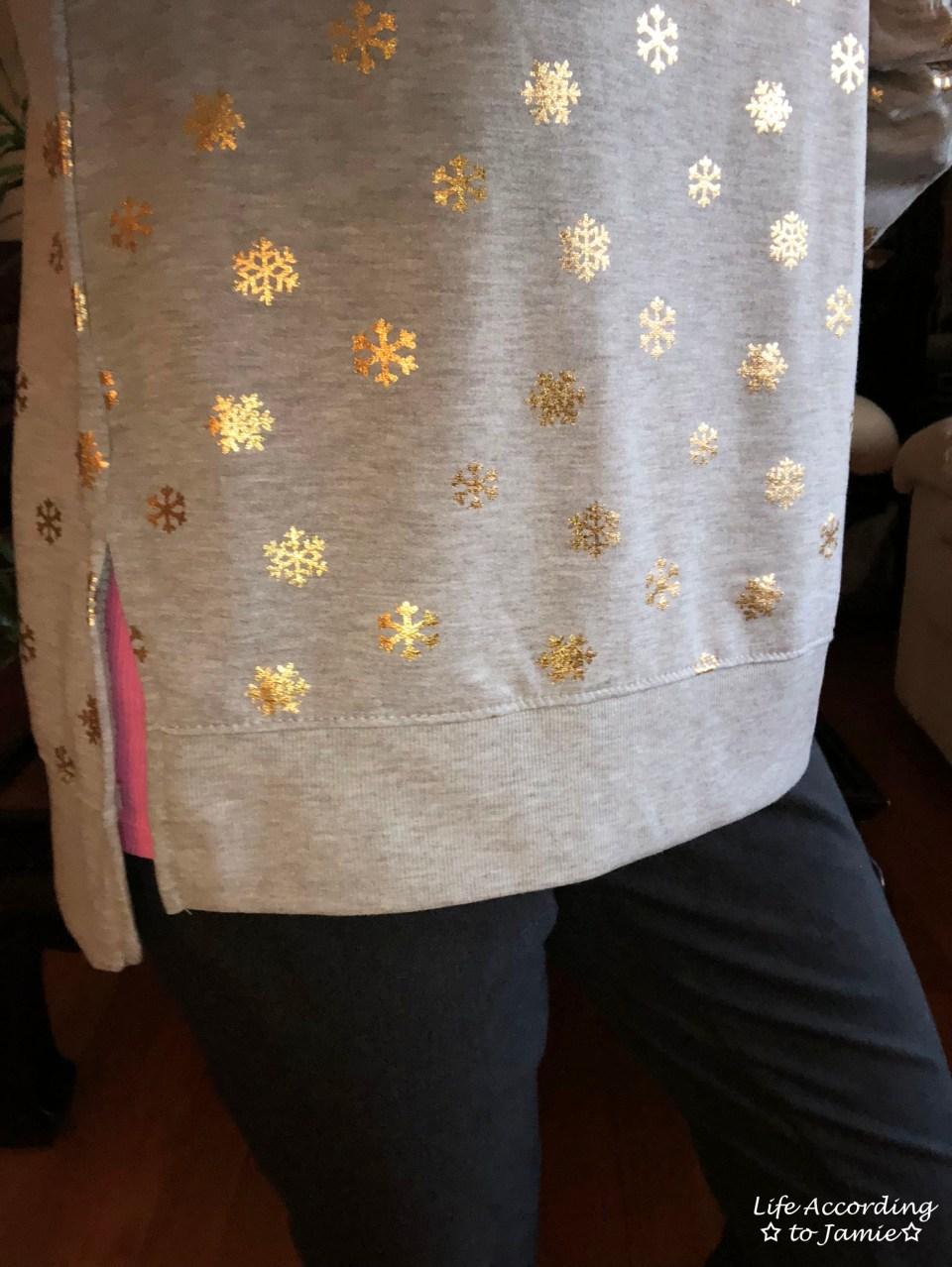 Gold Snowflake Sweatshirt 3