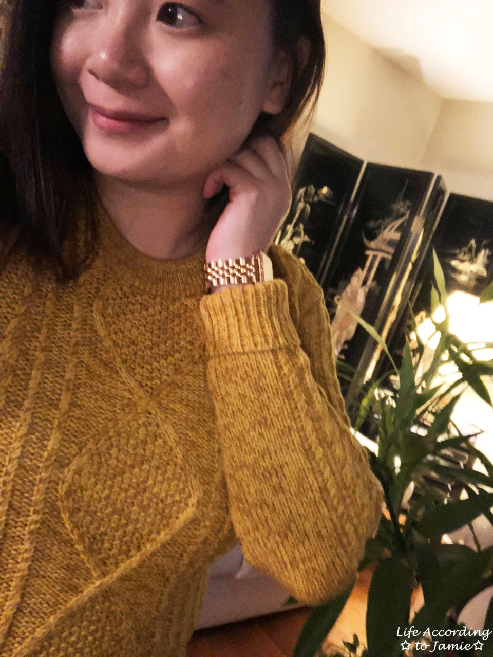 Golden Yellow Cable Knit