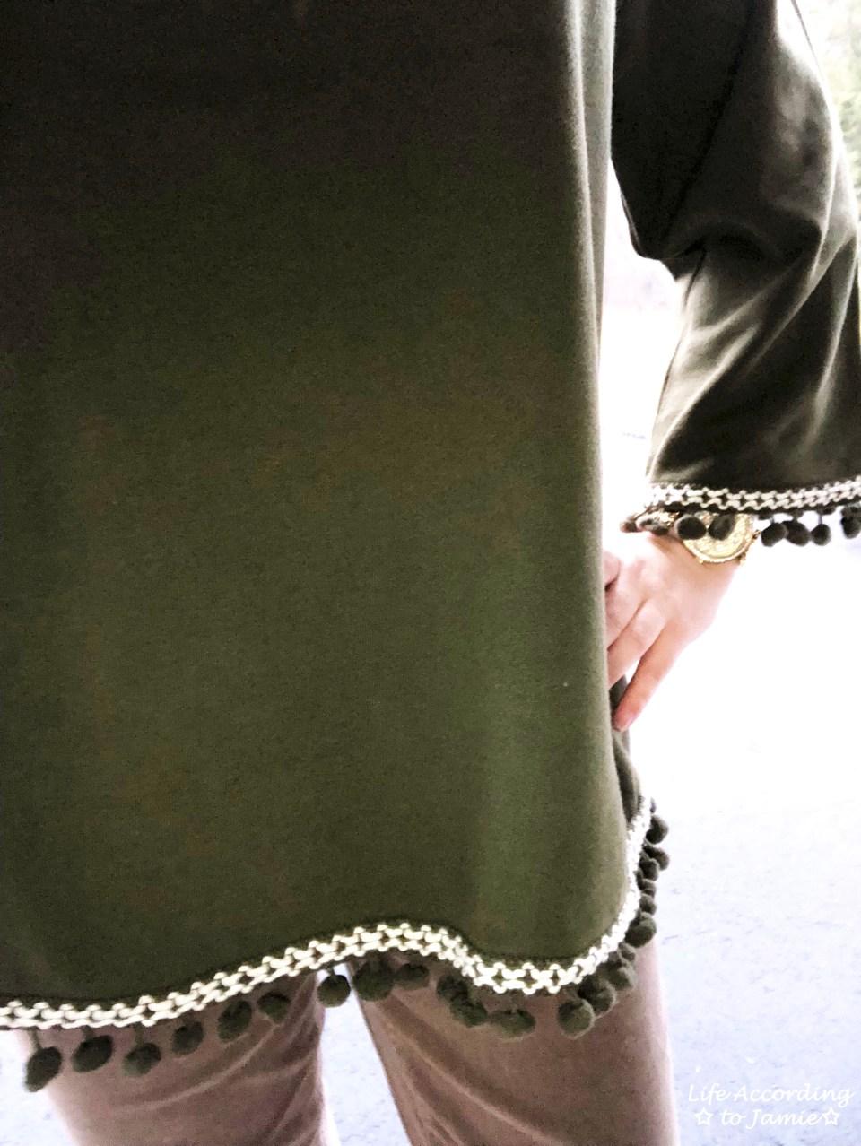 Green Pompom Fringe 2