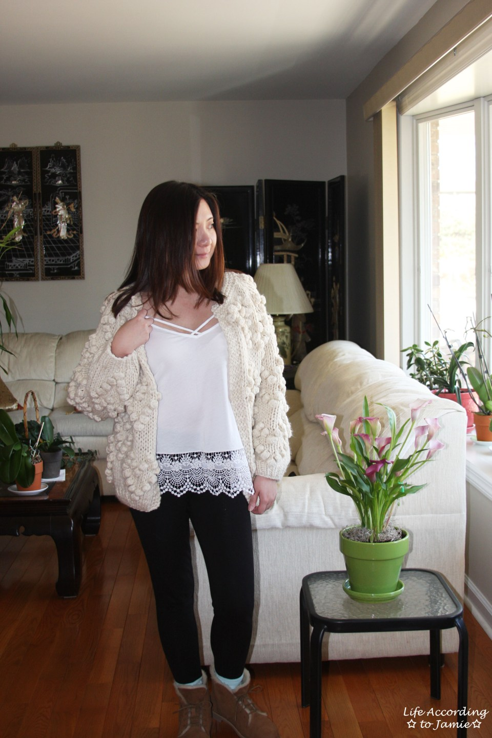 Knit Your Love Pompom Cardigan 11