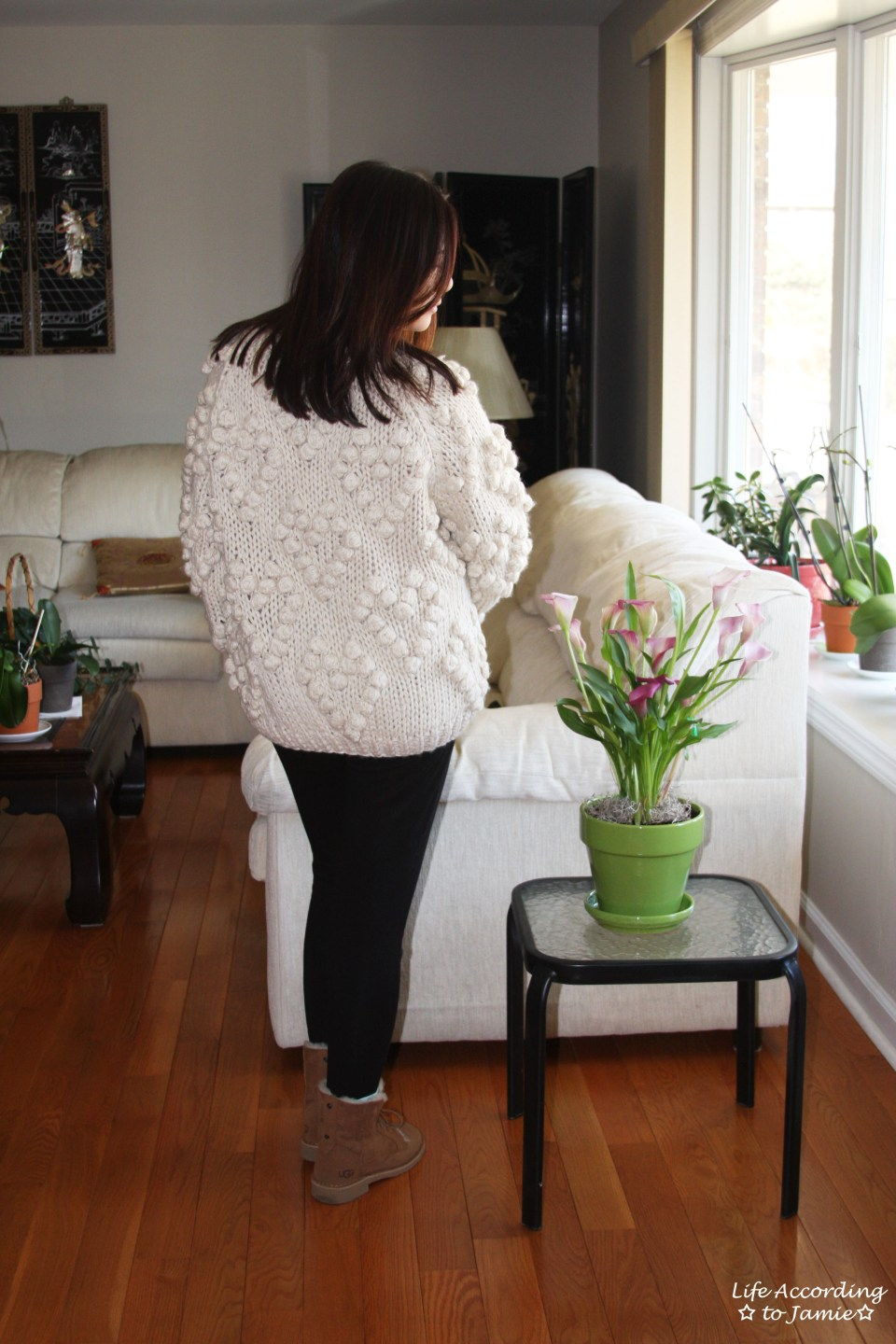 Knit Your Love Pompom Cardigan 13