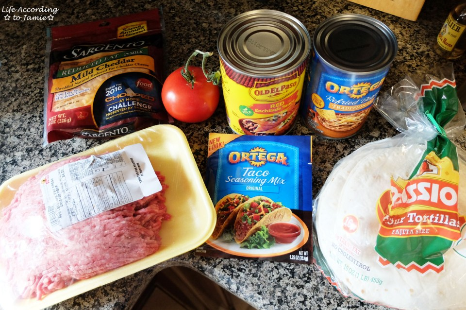 Mexican Pizza - Ingredients