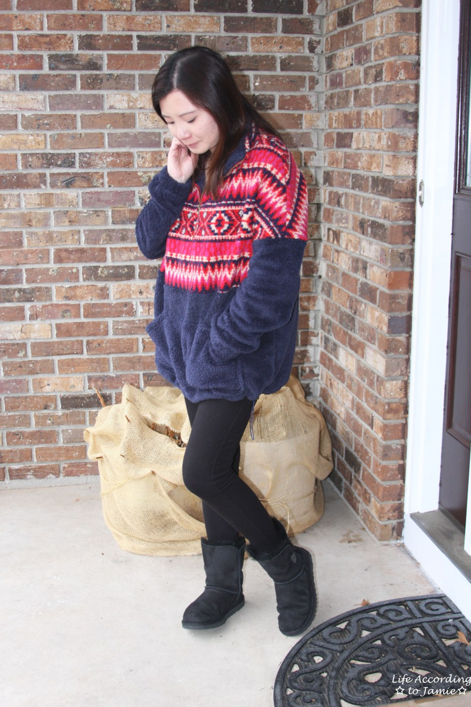 Navy & Red Pullover 3