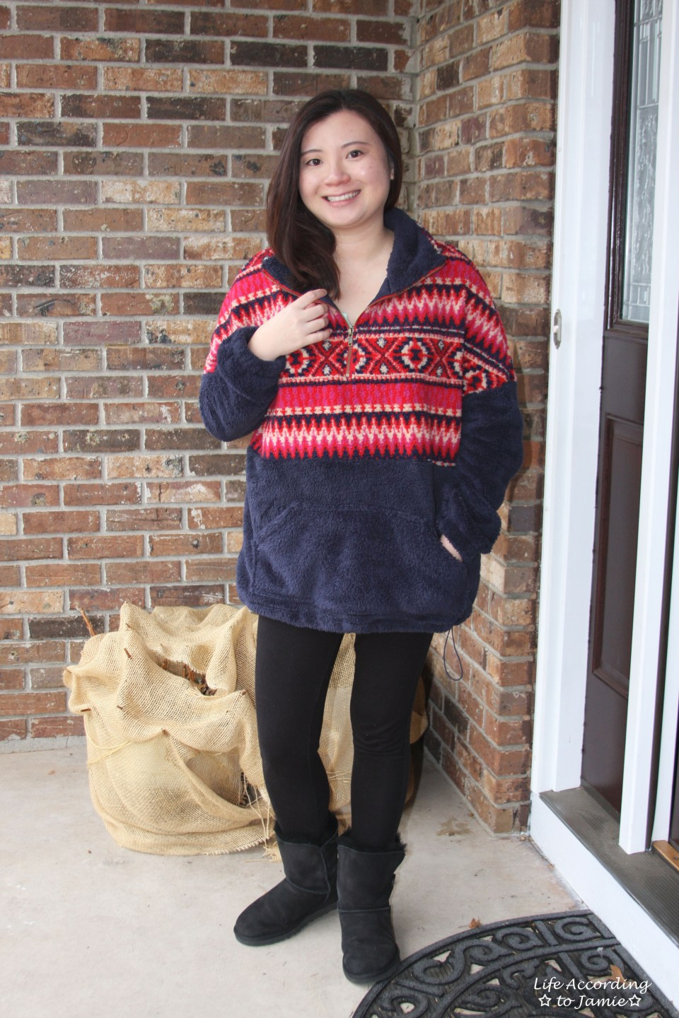 Navy & Red Pullover 6