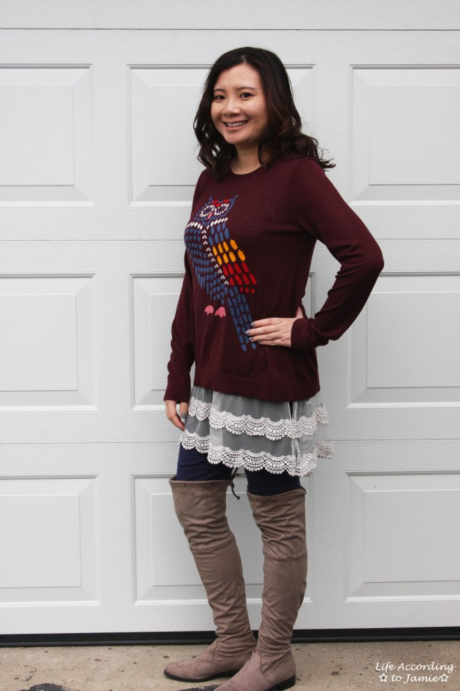 Owl Sweater + Lace Extender 5