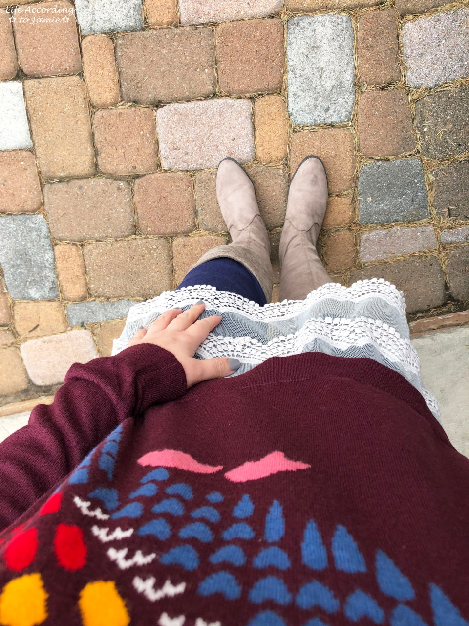 Owl Sweater + Lace Extender