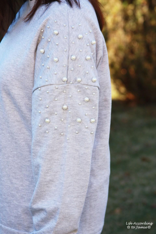 Pearl Embellished Sweatshirt 12