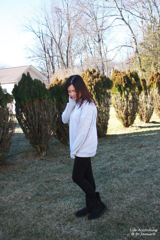 Pearl Embellished Sweatshirt 4