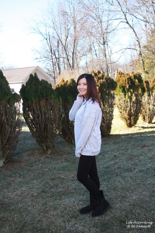 Pearl Embellished Sweatshirt 5