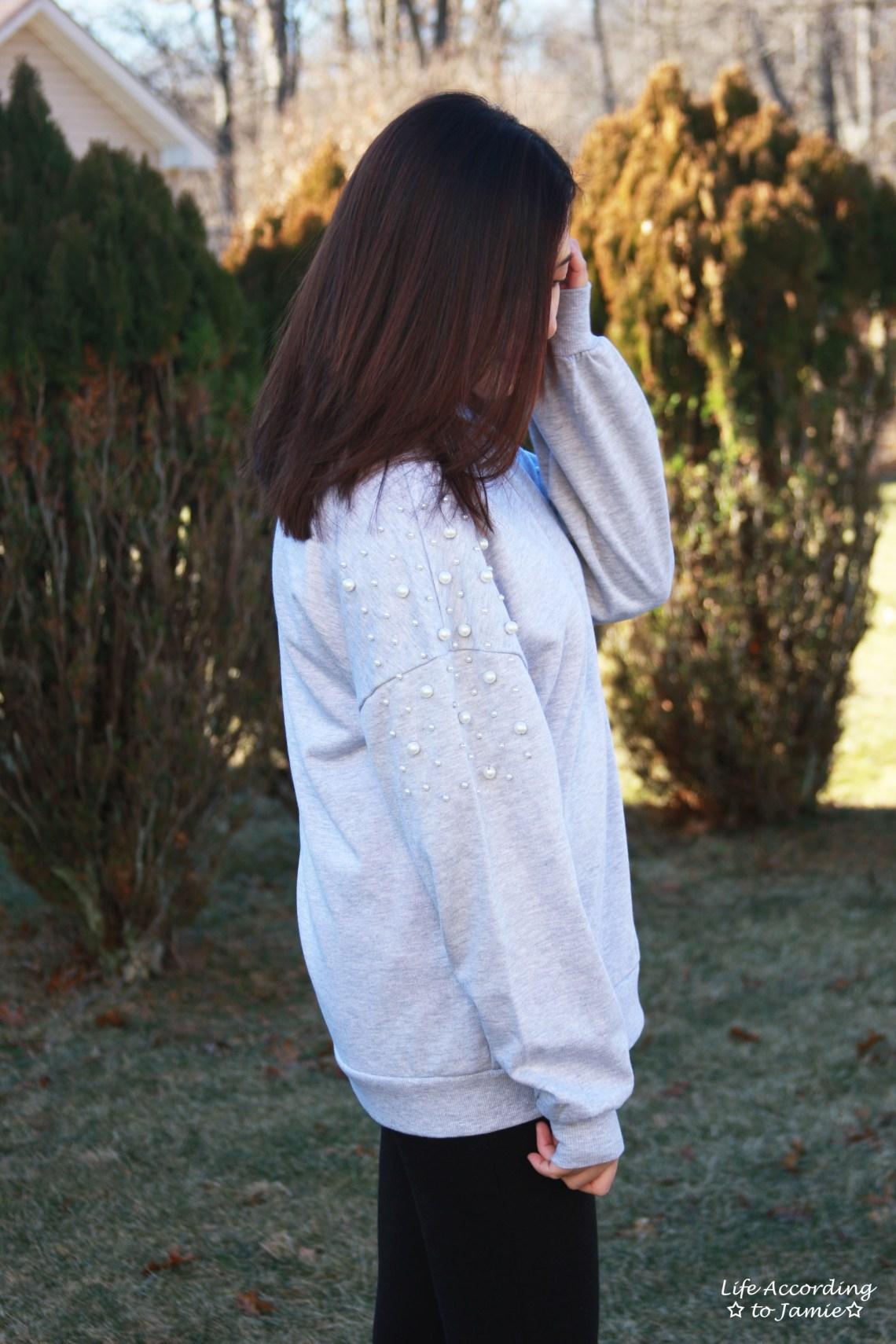 Pearl Embellished Sweatshirt