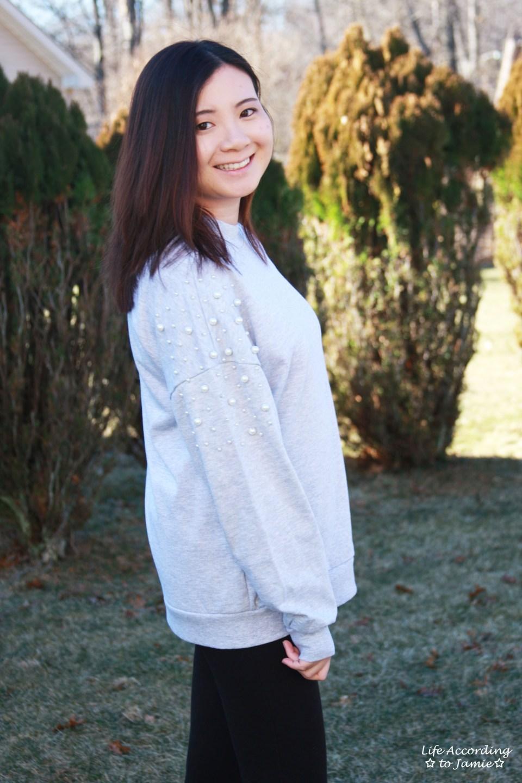Pearl Embellished Sweatshirt 9
