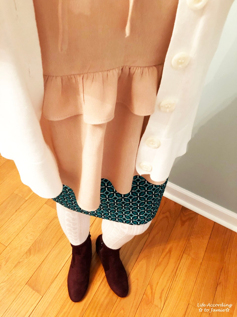 Tiled Jacquard Skirt 1