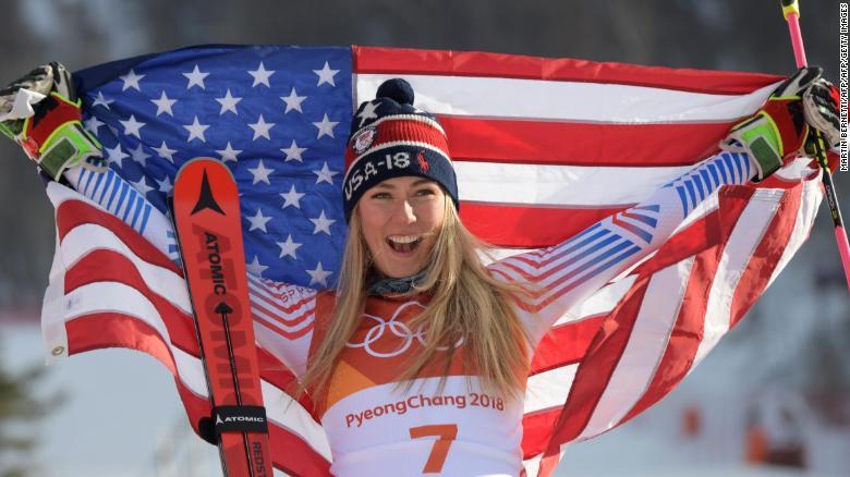 mikaela shiffrin giant slalom gold