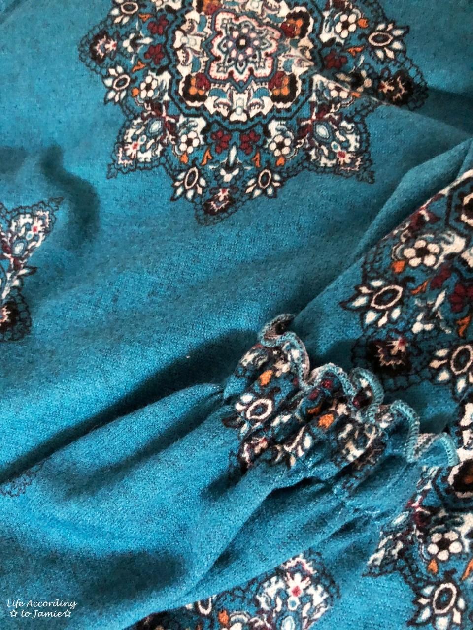 Bell Sleeve Fleece Dress 13