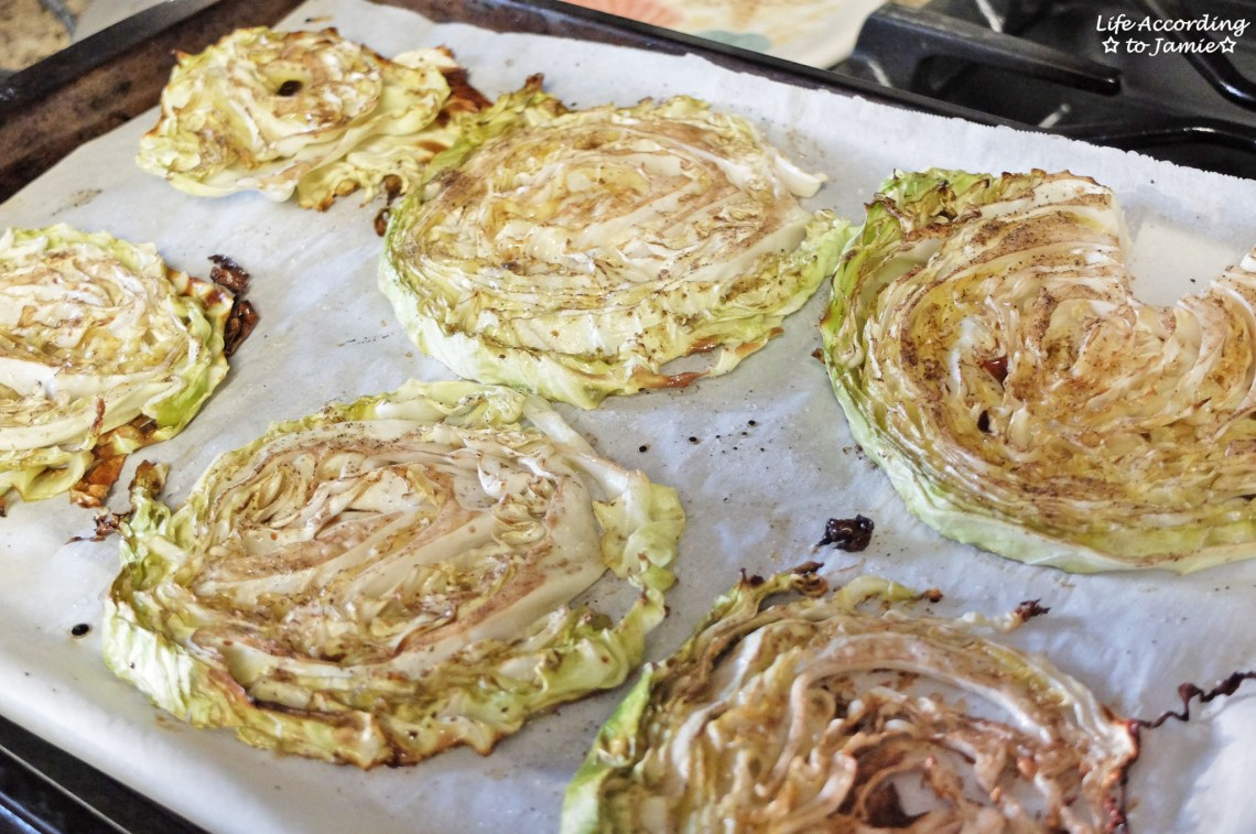 Balsamic & Honey Cabbage Steaks