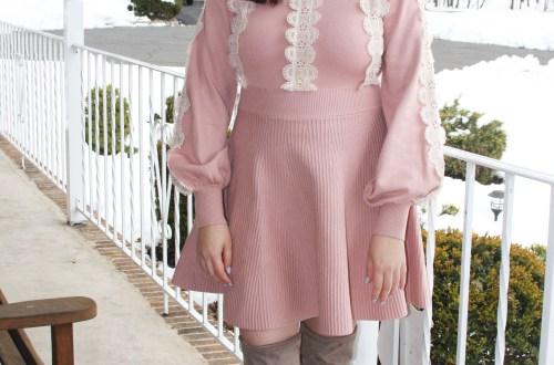 Crochet A-Line Dress