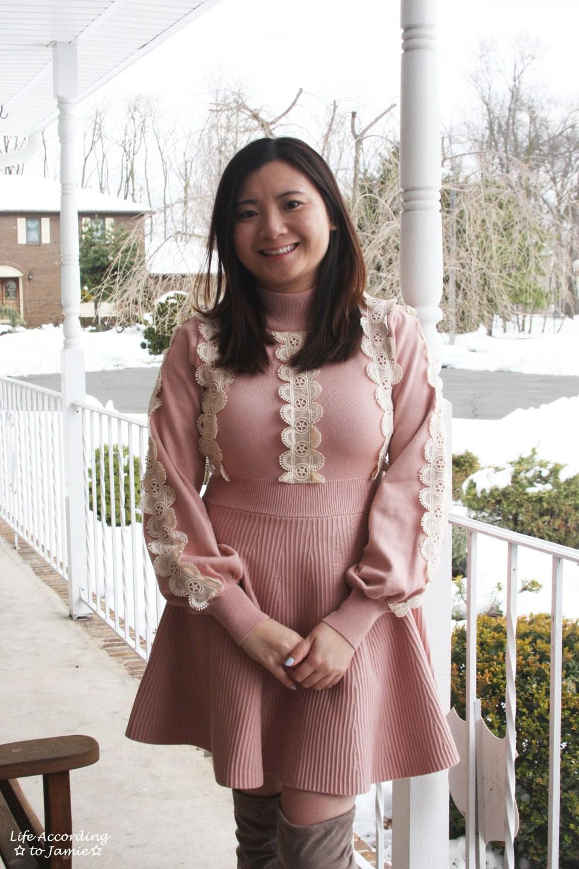 Crochet A-Line Dress 8