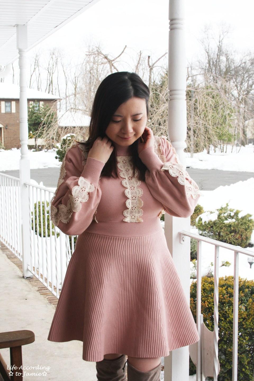 Crochet A-Line Dress 9