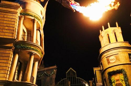 Diagon Alley - Dragon at night