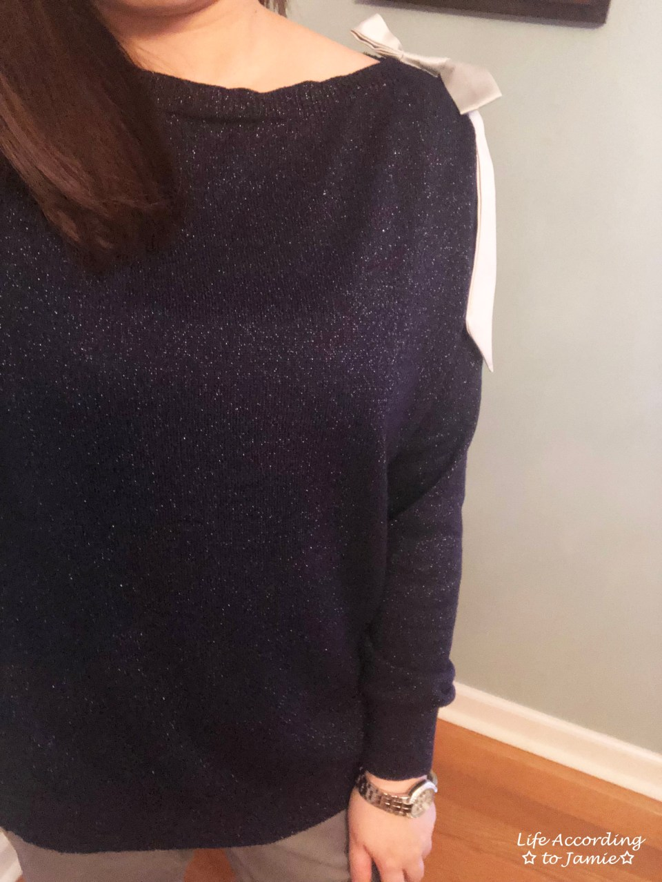 Evening Blue Bow Sweater 1