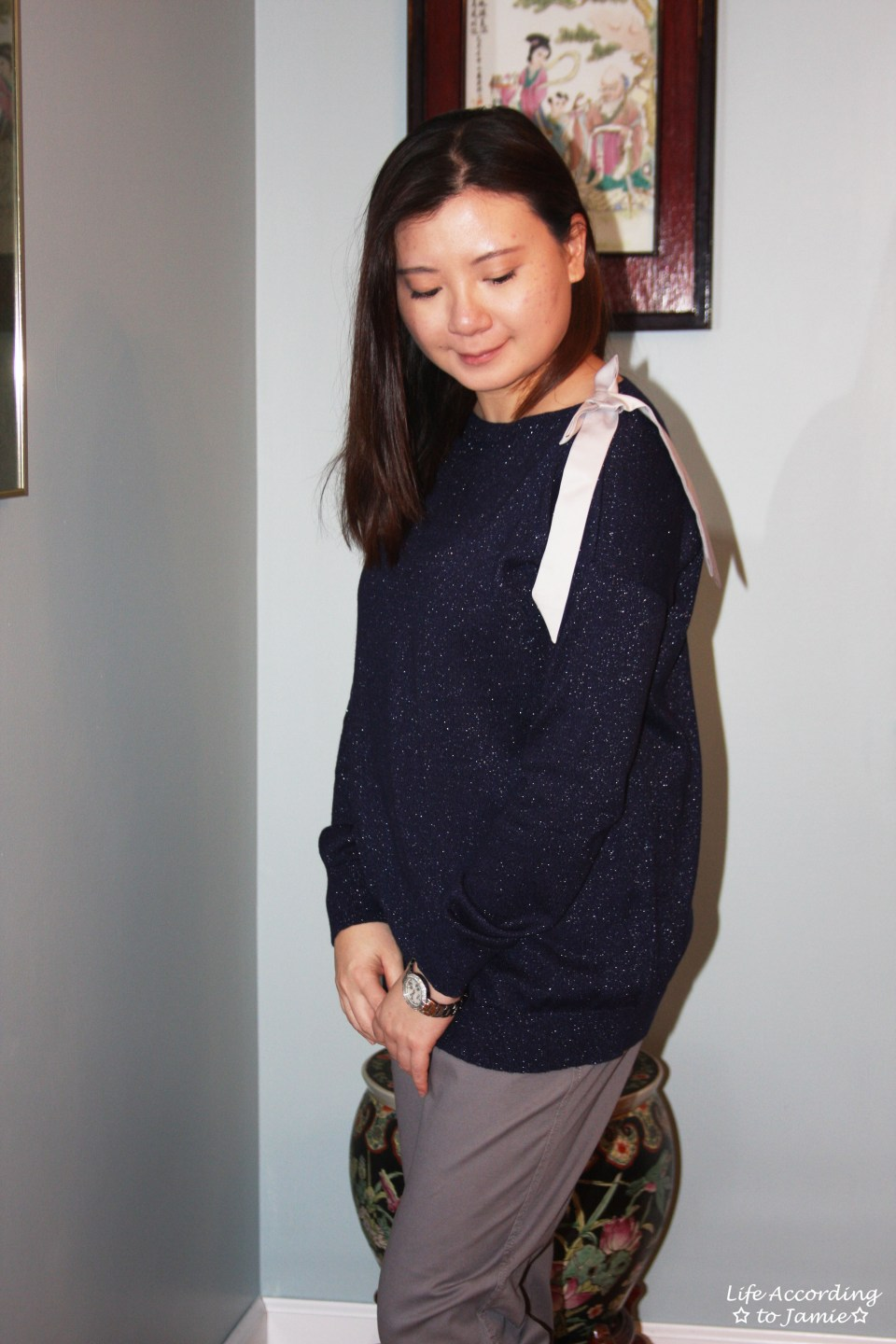 Evening Blue Bow Sweater 7