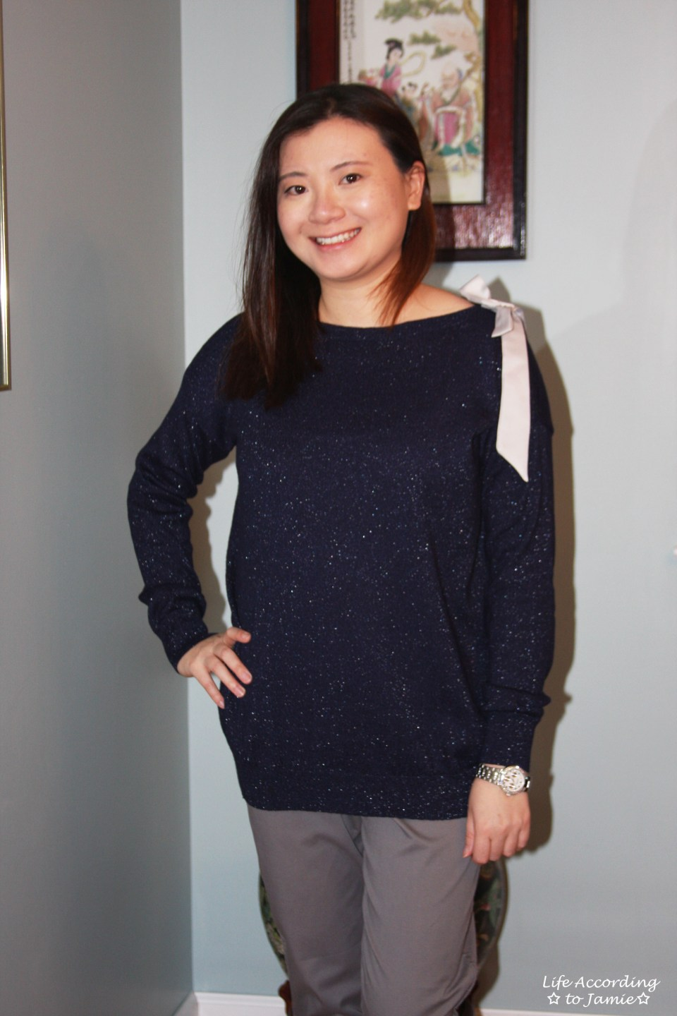 Evening Blue Bow Sweater 8