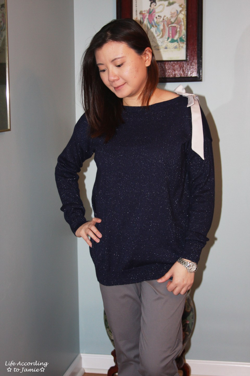 Evening Blue Bow Sweater 9