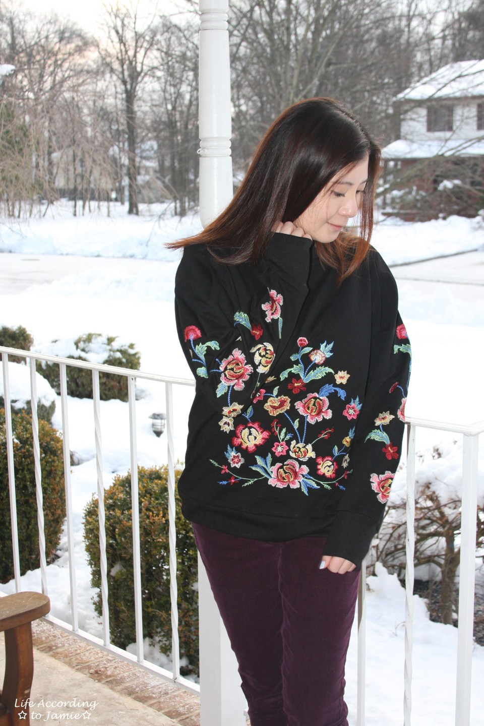 Floral Embroidered Sweatshirt 2