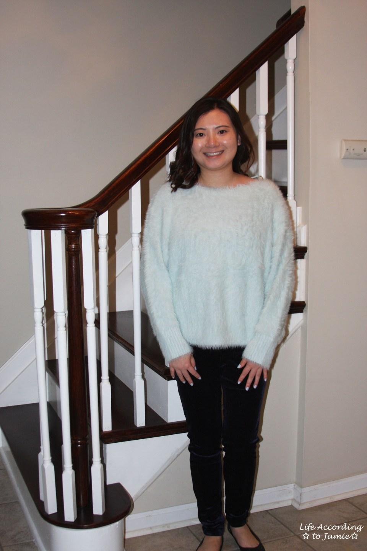 Ice Blue Fuzzy Sweater 6