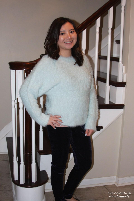 Ice Blue Fuzzy Sweater 7