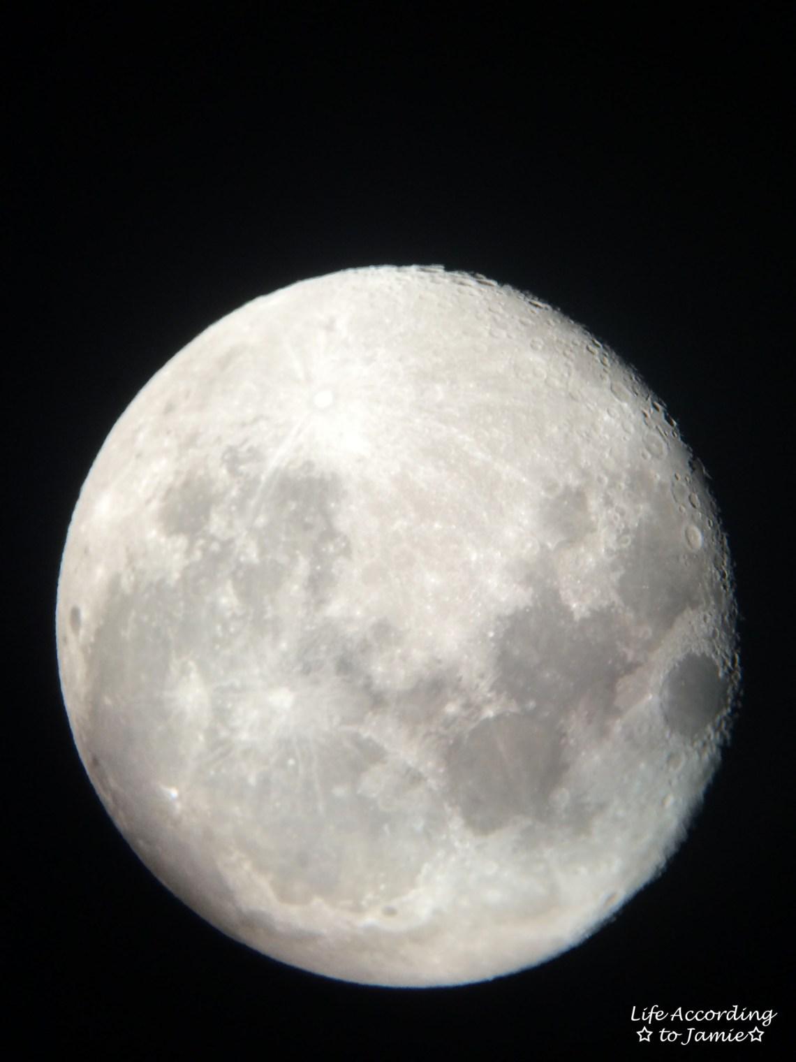 Moon through telescope