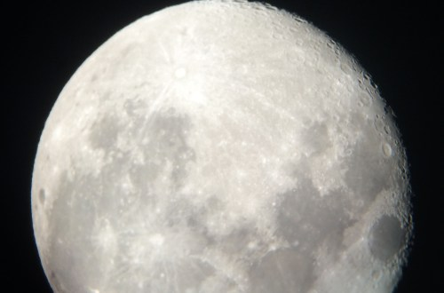 Moon through telescope