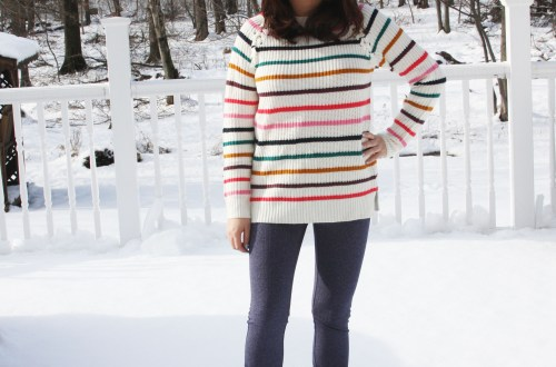 Multicolor Striped Lace-Up