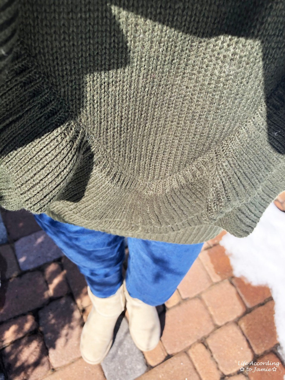 Olive Double Ruffle Sweater 3