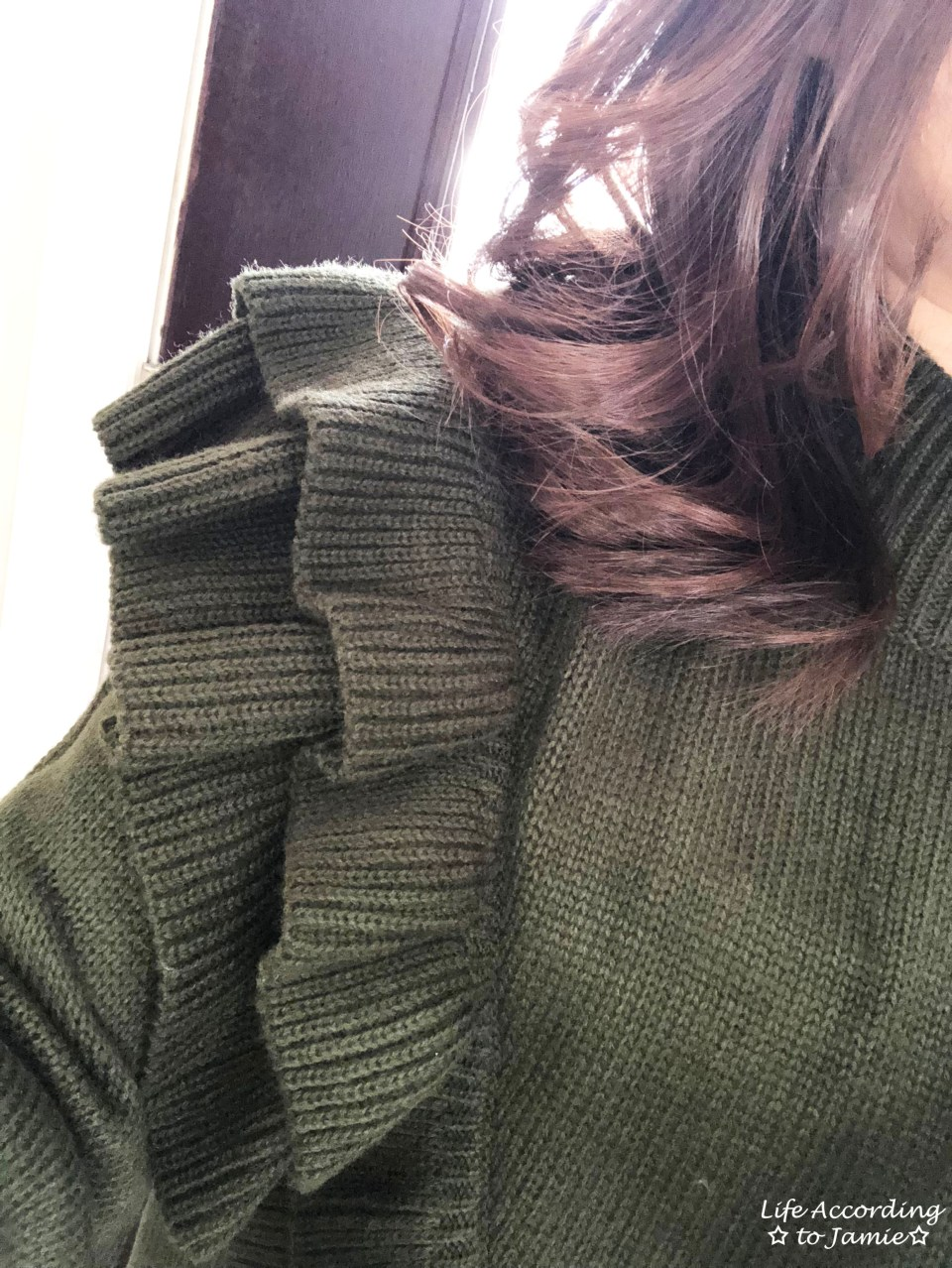 Olive Double Ruffle Sweater