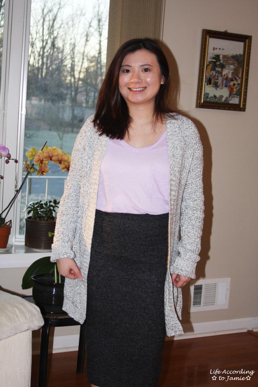 Plush Jersey Pencil Skirt 3