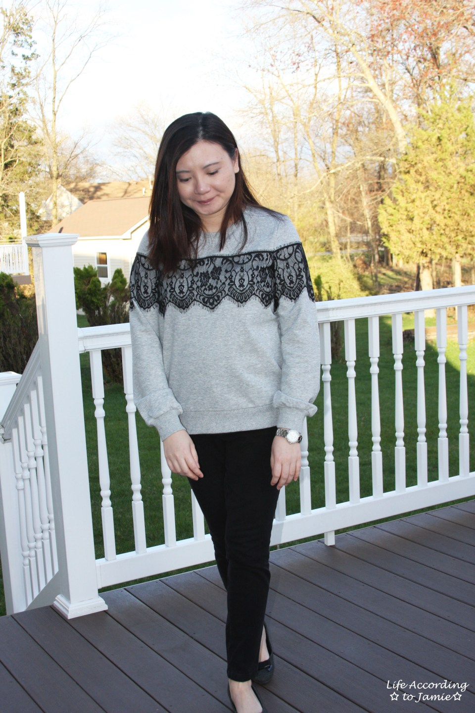 Black Lace Sweatshirt 3