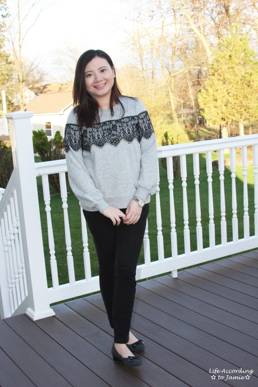 Black Lace Sweatshirt 4