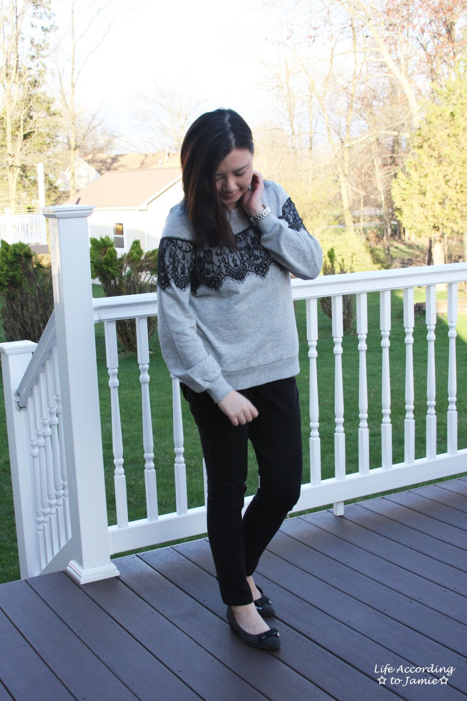 Black Lace Sweatshirt 5