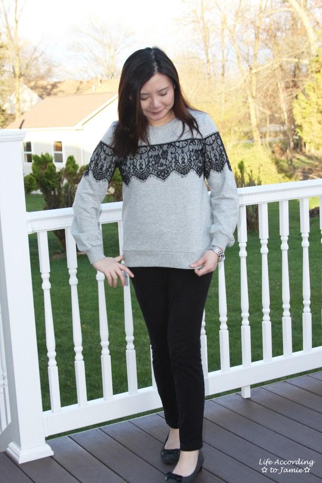 Black Lace Sweatshirt 8