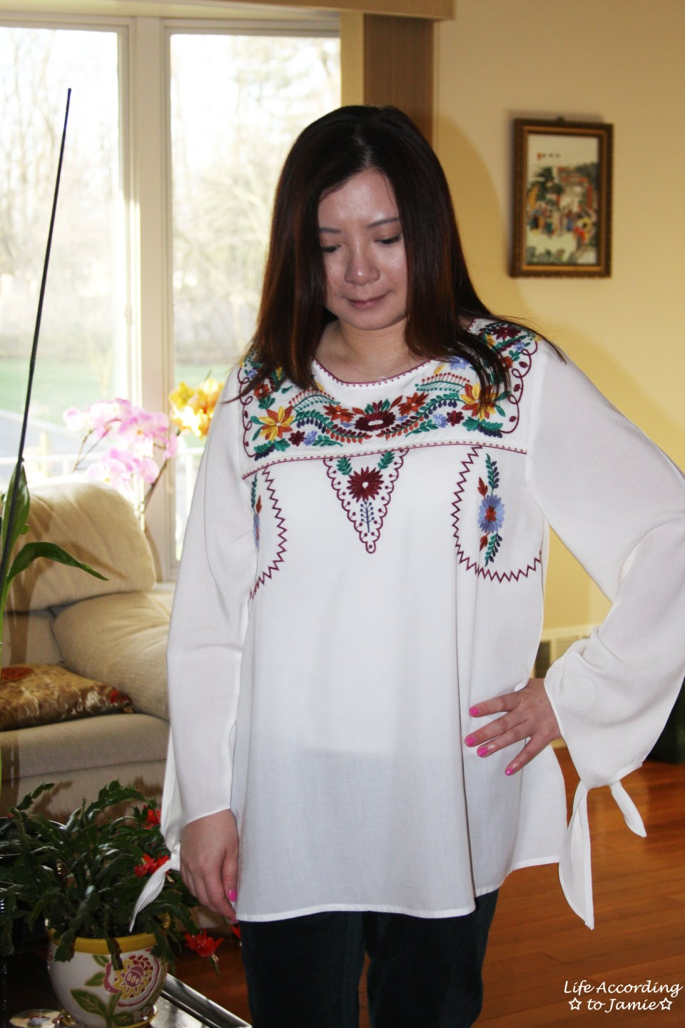 Embroidered Boho Top 10