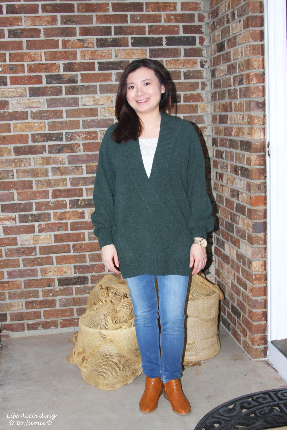 Green Wrap Front Tunic 10